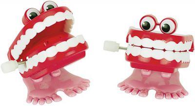 Zähne zum Aufziehen, Klappergebiss, per Stück Zähne zum Aufziehen, Klappergebiss, per Stück Aufzieh-Raupe Kunststoff per...