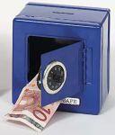 Metalltresor (blau)  Metalltresor (rot) Metalltresor (blau) Geldkassette mit Kombinationsschloss...