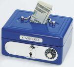 Geldkassette mit Kombinationsschloss (blau)  Metalltresor (rot) Metalltresor (blau) Geldkassette mit Kombinationsschloss...