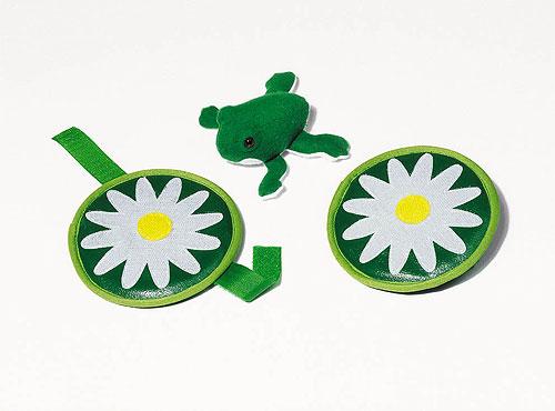 Froschfangspiel-Set mit Klettband Froschfangspiel-Set mit Klettband Gymnastikband / Rhythmikband Regenbogen pe...
