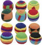 Kick-Ball / Footbag / Hacky-Sack gehäkelt per Stück  Jonglierbälle - 3er Set Regenbogenball / Gummiball / Flummy per Stück Gummi...