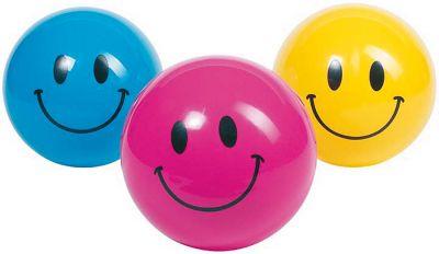 Ball Smile 20 cm farblich sortiert per Stück Ball Smile 20 cm farblich sortiert per Stück Jonglierbälle - 3er Set Regenbo...