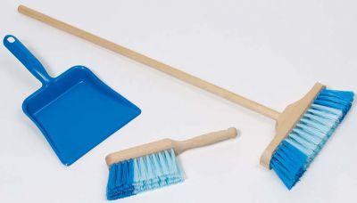 3er Kehr-Set blau mit Besen, Schaufel und Handfeger 3er Kehr-Set blau mit Besen, Schaufel und Handfeger Gymnastikband / Rhythmik...