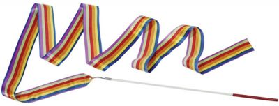 Gymnastikband / Rhythmikband Regenbogen gestreift per Stück Gymnastikband / Rhythmikband Regenbogen gestreift per Stück Gymnastikband /...