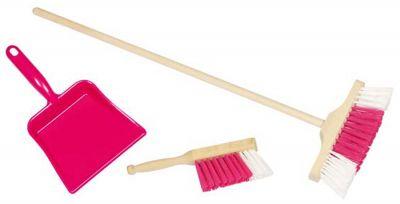 3er Kehr-Set rosa mit Besen, Schaufel und Handfeger 3er Kehr-Set rosa mit Besen, Schaufel und Handfeger 3er Kehr-Set blau mit Be...