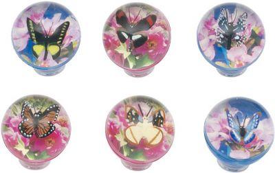 Flummy / Gummiball 3-D Schmetterling per Stück Flummy / Gummiball 3-D Schmetterling per Stück Jonglierbälle - 3er Set Reg...
