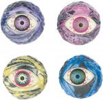 Flummy - Gummiball Auge farblich sortiert per Stück  Jonglierbälle - 3er Set Regenbogenball / Gummiball / Flummy per Stück Gummi...