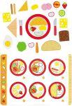 Frühstück à la carte mit Menükarte / Speisekarte, 26-teilig  Wurstaufschnitt-Set mit Tablett, 11-teilig Käseaufschnitt-Set mit Tablett, ...