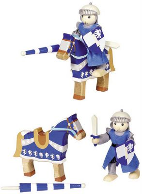 Biegepuppe Ritter Lancelod mit Pferd Biegepuppe Ritter Lancelod mit Pferd Biegepuppe Königin Biegepuppen-Set City...