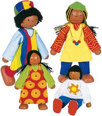 Biegepuppen-Set Afrikanische Familie, 4-teilig Biegepuppen-Set Afrikanische Familie, 4-teilig Biegepuppe Königin Biegepuppe...