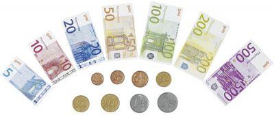 Spielgeld-Set mit Banknoten und Münzen Spielgeld-Set mit Banknoten und Münzen Wurstaufschnitt-Set mit Tablett, 11-t...