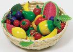 Obst im Korb  Knoblauchzwiebeln in Gemüsekiste Kaufmannsladen Spielgeld Lollies Waage aus...