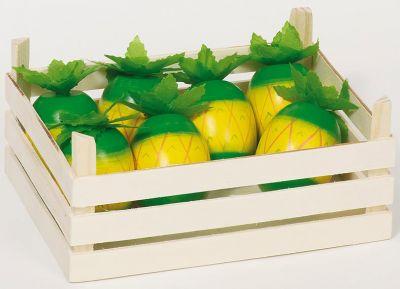 Ananasfrüchte in Obstkiste Ananasfrüchte in Obstkiste Wurstaufschnitt-Set mit Tablett, 11-teilig Käseau...