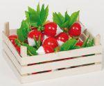 Radieschen in Gemüsekiste  Knoblauchzwiebeln in Gemüsekiste Kaufmannsladen Spielgeld Lollies Waage aus...