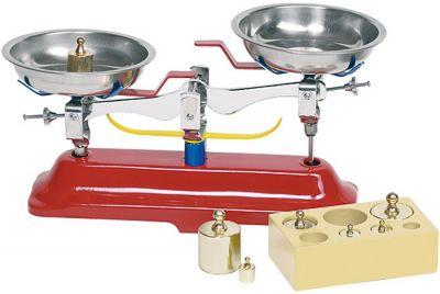 Metallwaage - Waage mit Metallgewichten Metallwaage - Waage mit Metallgewichten Wurstaufschnitt-Set mit Tablett, 11-...