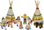Biegepuppen Indianerlager-Set, 14-teilig  Biegepuppe Königin Biegepuppen-Set City Familie, 6-teilig Biegepuppen-Set B...