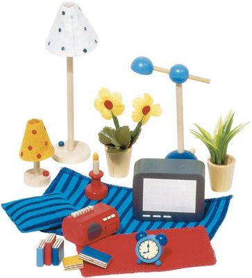 Accessoires / Zubehör Wohn- und Schlafzimmer für das Puppenhaus 17-teilig Accessoires / Zubehör Wohn- und Schlafzimmer für das Puppenhaus 17-teilig Ei...