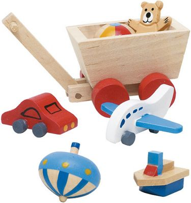 Accessoires / Zubehör-Set Kinderzimmer für das Puppenhaus 7-teilig Accessoires / Zubehör-Set Kinderzimmer für das Puppenhaus 7-teilig Einrichtu...