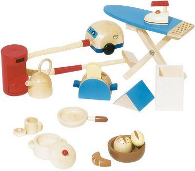 Accessoires / Zubehör-Set Küche und Haushalt für das Puppenhaus 16-teilig Accessoires / Zubehör-Set Küche und Haushalt für das Puppenhaus 16-teilig Ei...