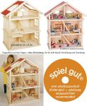 Puppenhaus groß mit 3 Etagen 65 x 35 x 87,5 cm  Puppenhaus groß mit 3 Etagen 65 x 35 x 87,5 cm Puppenhaus klein Farmhaus i...