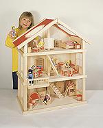 Puppenhaus groß mit 3 Etagen  Puppenhaus groß mit 3 Etagen Puppenhaus klein Farmhaus im Koffer - Kofferfa...