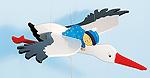 Schwingfigur - Storch mit Baby  Schwingfigur - Animal Airlines Schwingfigur - Schmetterling Schwingfigur - ...