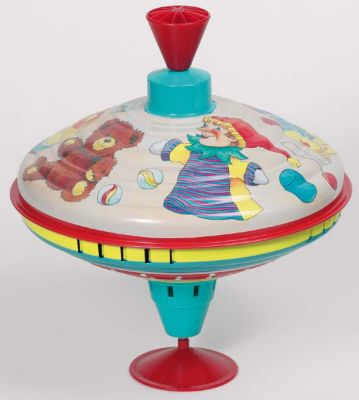 Brummkreisel Spielzeug Brummkreisel Spielzeug Brummkreisel aus Blech mit Holzgriff - Motiv Hans im ...