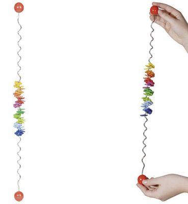 Farbspirale mit bunten Holzblümchen Farbspirale mit bunten Holzblümchen Jo - Jo rot Jo - Jo blau Jo - Jo grün ...
