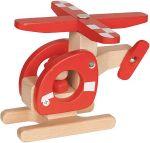Helikopter - Hubschrauber aus Holz  Signalkelle grün / rot Traktor mit Anhänger aus Holz in rot oder grün mi...