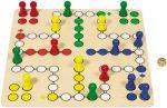Brettspiel Ludo XXL - Holzludo extra groß 50 x 50 cm  Holzspiel - Backgammon Brettspiel Glückskäfer Klappenspiel im Holzkasten Kl...