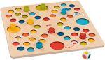 Brettspiel Mein erstes Ludo - Farbludospiel  Holzspiel - Backgammon Klappenspiel im Holzkasten Klappenspiel Klappenspiel...