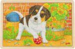 Einlegepuzzle Kleiner Hund 24-teilig  Einlegepuzzle - Alphabet ABC Einlegepuzzle / Anlegepuzzle Tierkreis Einlege...