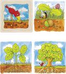 Schichtenpuzzle Baum mit 4 Schichten  Schichtenpuzzle Schnecke mit 4 Schichten Schichtenpuzzle Elefant mit 5 Schi...