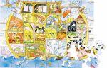 Holzpuzzle Leben auf der Arche Noah 48-teilig in praktischer Stülpdeckelverpackung  Legepuzzle - Finde deinen Weg! Holzpuzzle Omas und Opas Bauernhof 48-teilig...