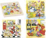 """Schichtenpuzzle """"Mein Tag"""" mit 4 Schichten  Schichtenpuzzle Schnecke mit 4 Schichten Schichtenpuzzle Elefant mit 5 Schi..."""