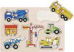 Steckpuzzle Baufahrzeuge 7-teilig  Steckpuzzle - Spielzeug klein Steckpuzzle - Bauernhof VI Steckpuzzle Verkeh...