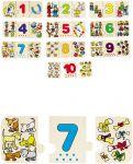 """Puzzle """"Zählen und Zuordnen""""  Einlegepuzzle - Alphabet ABC Einlegepuzzle / Anlegepuzzle Tierkreis Einlege..."""