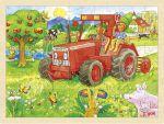 Einlegepuzzle Traktor 96-teilig  Einlegepuzzle - Alphabet ABC Einlegepuzzle / Anlegepuzzle Tierkreis Einlege...