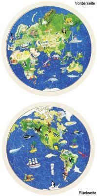 Einlegepuzzle Weltkugel 57-teilig Einlegepuzzle Weltkugel 57-teilig Einlegepuzzle - Alphabet ABC Einlegepuzzle...