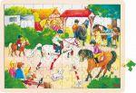 Einlegepuzzle Reitturnier 96-teilig  Einlegepuzzle - Alphabet ABC Einlegepuzzle / Anlegepuzzle Tierkreis Einlege...