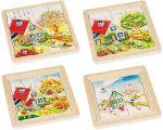 Schichtenpuzzle Jahreszeiten mit 4 Schichten  Schichtenpuzzle Schnecke mit 4 Schichten Schichtenpuzzle Elefant mit 5 Schi...