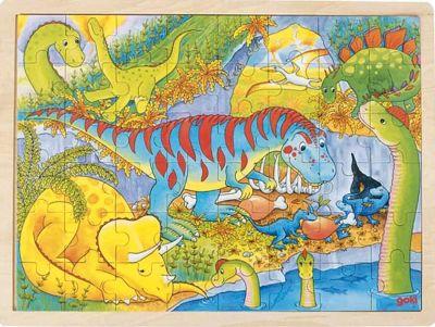 Einlegepuzzle Dinosaurier 48-teilig Einlegepuzzle Dinosaurier 48-teilig Einlegepuzzle - Alphabet ABC Hintergrund...