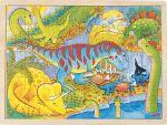 Einlegepuzzle Dinosaurier 48-teilig  Einlegepuzzle - Alphabet ABC Einlegepuzzle / Anlegepuzzle Tierkreis Einlege...
