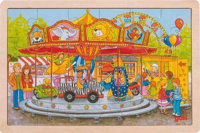 Einlegepuzzle Karussell 24-teilig Einlegepuzzle Karussell 24-teilig Einlegepuzzle - Alphabet ABC Hintergrundpu...