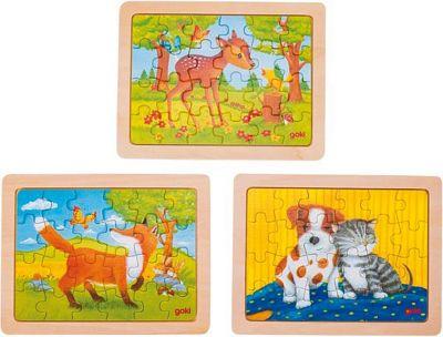 Einlegepuzzles - Minipuzzles Tierfreundschaften - 3er Set Einlegepuzzles - Minipuzzles Tierfreundschaften - 3er Set Einlegepuzzle - Al...