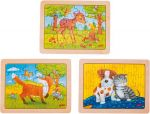 Einlegepuzzles - Minipuzzles Tierfreundschaften - 3er Set  Einlegepuzzle - Alphabet ABC Einlegepuzzle / Anlegepuzzle Tierkreis Einlege...