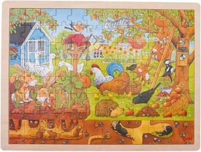 Einlegepuzzle Unser Garten über und unter der Erde 96-teilig Einlegepuzzle Unser Garten über und unter der Erde 96-teilig Einlegepuzzle -...