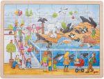 Einlegepuzzle Ausflug in den Zoo 48-teilig  Einlegepuzzle - Alphabet ABC Einlegepuzzle / Anlegepuzzle Tierkreis Einlege...