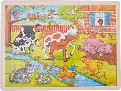 Einlegepuzzle Leben auf dem Bauernhof 48-teilig Einlegepuzzle Leben auf dem Bauernhof 48-teilig Einlegepuzzle - Alphabet ABC...