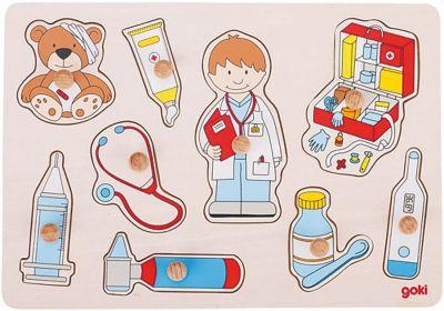 Steckpuzzle Besuch beim Arzt Steckpuzzle Besuch beim Arzt Steckpuzzle - Spielzeug klein Steckpuzzle - Bau...